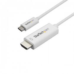 StarTech.com - Cable Adaptador de 1m USB-C a HDMI 4K 60Hz - Blanco - Cable USB Tipo C a HDMI - Cable Conversor de Vídeo USBC
