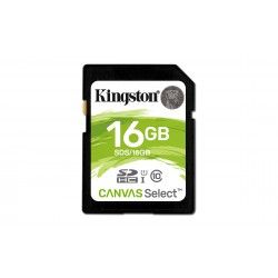 Kingston Technology - Canvas Select memoria flash 16 GB SDHC Clase 10 UHS-I