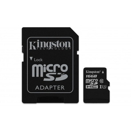 Kingston Technology - Canvas Select 16GB MicroSD UHS-I Clase 10 memoria flash