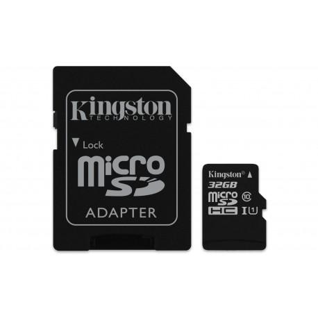 Kingston Technology - Canvas Select 32GB MicroSDHC UHS-I Clase 10 memoria flash - 22220275