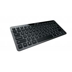 Logitech - Bluetooth Illuminated Keyboard K810 Bluetooth QWERTY Español Aluminio teclado para móvil