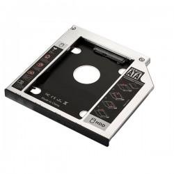 Ewent - EW7003 Acrilonitrilo butadieno estireno (ABS), Aluminio Negro, Blanco funda para disco duro externo