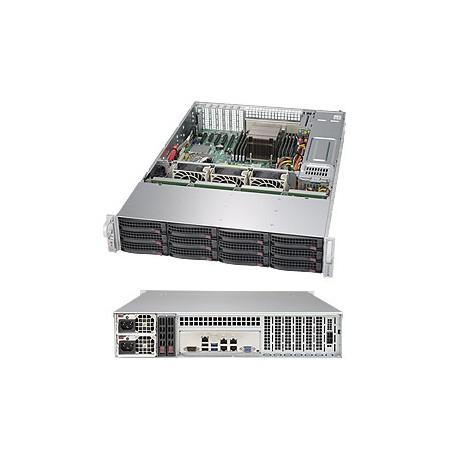 Supermicro - 6028R-E1CR12H Intel C612 LGA 2011 (Socket R) 2U Negro