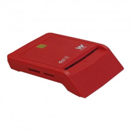 Woxter - PE26-148 Interior USB 2.0 Rojo lector de tarjeta inteligente