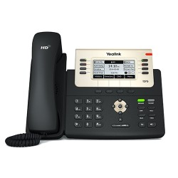 Yealink - SIP-T27G teléfono IP Negro, Oro Terminal con conexión por cable LCD 8 líneas