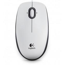 Logitech - B100 USB Óptico 800DPI Ambidextro Blanco ratón