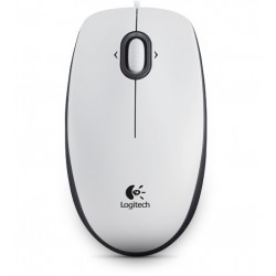 Logitech - B100 USB Óptico 800DPI Ambidextro Color blanco ratón