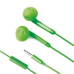 Celly - FUN35GN Dentro de oído Binaural Alámbrico Verde auriculares para móvil