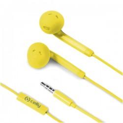 Celly - FUN35YL Dentro de oído Binaural Alámbrico Amarillo auriculares para móvil