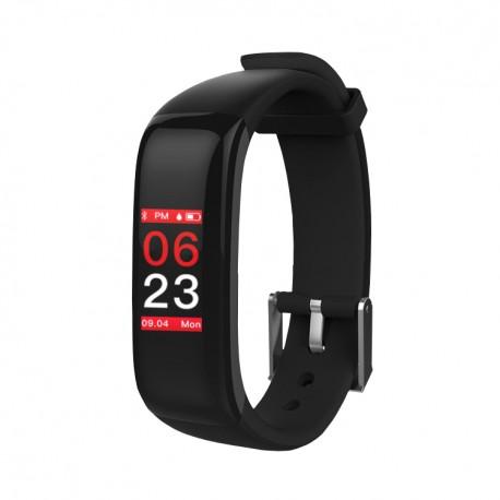 "Brigmton - BSPORT-15 Wristband activity tracker 0.96"" OLED Inalámbrico IP67 Negro"