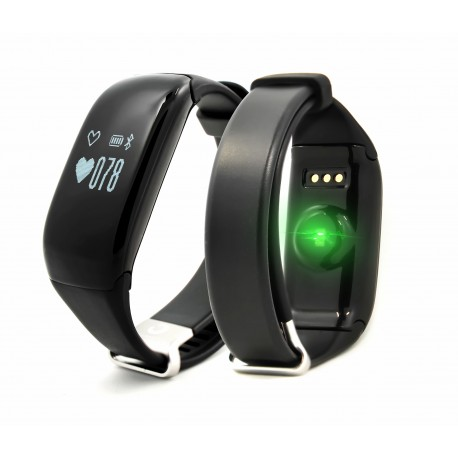 "Brigmton - BSPORT-14 Wristband activity tracker 0.69"" OLED Inalámbrico IP67 Negro"