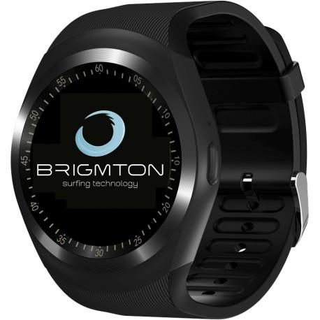 """Brigmton - BWATCH-BT7 1.3"""" IPS Móvil Negro reloj inteligente"""