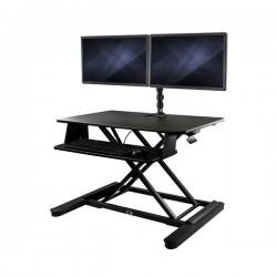 StarTech.com - Conversor de Escritorio a Estación de Pie y Sentado para 2 Monitores con Plataforma de Trabajo de 88