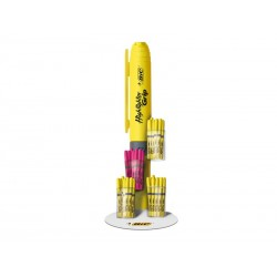 BIC - Expositor 60 highllighter grip. 48 amarillos y 12 rosas 947139