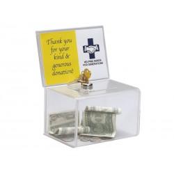 Deflecto - Urna pequeña con portacartel y candado 165x205x135 596901