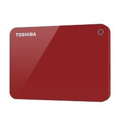 Toshiba - Canvio Advance disco duro externo 2000 GB Rojo