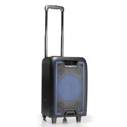 NGS - WildMetal 120 W Sistema de megafonía con ruedas Negro, Gris