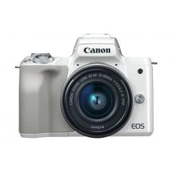 Canon - EOS M50 + EF-M 15-45mm STM MILC 24,1 MP CMOS 6000 x 4000 Pixeles Blanco