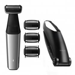 Philips - BODYGROOM Series 5000 Afeitadora corporal suave con la piel y apta para la ducha