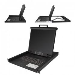 StarTech.com - Consola para Armario Rack con KVM VGA y Pantalla de 19 Pulgadas - 1U