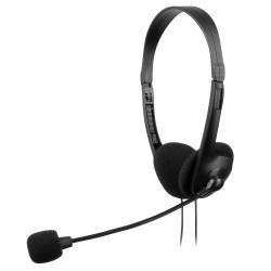 Tacens - AH118 Diadema Binaural Alámbrico Negro auriculares para móvil