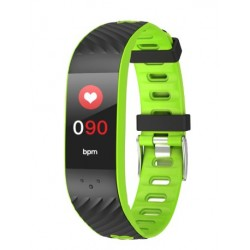 "Brigmton - BSPORT-16 Wristband activity tracker 0.96"" OLED Inalámbrico IP67 Negro, Verde"