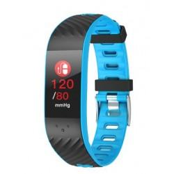 "Brigmton - BSPORT-16 Wristband activity tracker 0.96"" OLED Inalámbrico IP67 Negro, Azul"