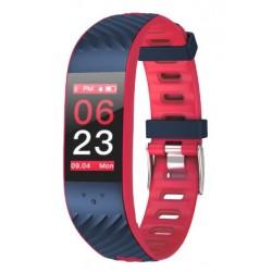 "Brigmton - BSPORT-16 Wristband activity tracker 0.96"" OLED Inalámbrico IP67 Azul, Rojo"