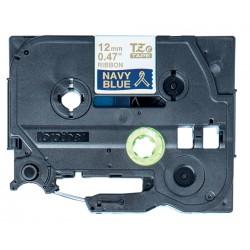 Brother - TZE-RN34 cinta para impresora de etiquetas Oro sobre azul marino