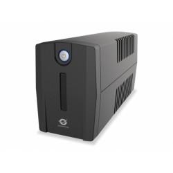 Conceptronic - ZEUS 02E sistema de alimentación ininterrumpida (UPS) 850 VA 4 salidas AC Línea interactiva