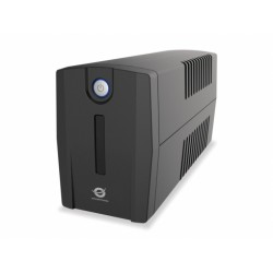 Conceptronic - ZEUS 01E sistema de alimentación ininterrumpida (UPS) 650 VA 4 salidas AC Línea interactiva