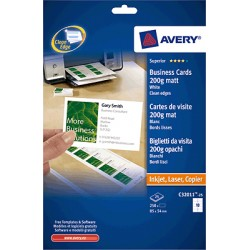 Avery - Business Cards 85 x 54 Quick & Clean 10 Sheets