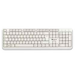 NGS - Spike teclado USB QWERTY Blanco