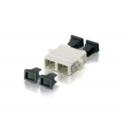 Equip - 156140 adaptador de fibra óptica SC Beige