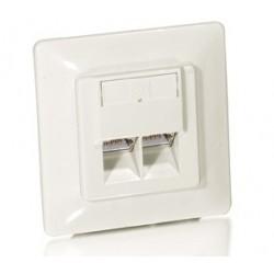 Equip - 125721 toma de corriente RJ-45 Blanco