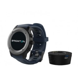 "Brigmton - BWATCH-100GPS 1.3"" IPS GPS (satélite) Negro, Gris reloj inteligente"