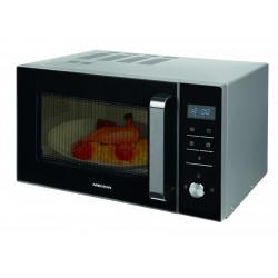 MEDION - MD 18042 Encimera Microondas con grill 23 L 900 W Negro, Plata