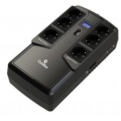 CoolBox - COO-SAISCU2-800 sistema de alimentación ininterrumpida (UPS) 800 VA 6 salidas AC