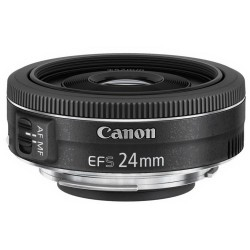 Canon - EF-S 24mm f/2.8 STM Objetivo ancho Negro