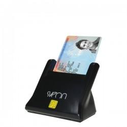 Sveon - SCT022 lector de tarjeta inteligente Interior Negro USB 2.0