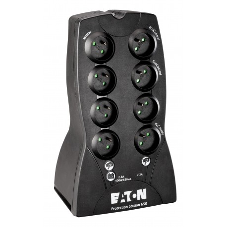 Eaton - Protection Station 650 USB DIN 650VA 8AC outlet(s) Mini tower Negro sistema de alimentación ininterrumpida