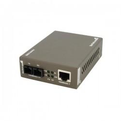 StarTech.com - Conversor de Medios Ethernet RJ45 a Fibra Óptica Modo Sencillo Monomodo SC - 15Km