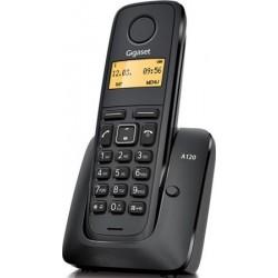 Gigaset - A120 Teléfono DECT Negro Identificador de llamadas