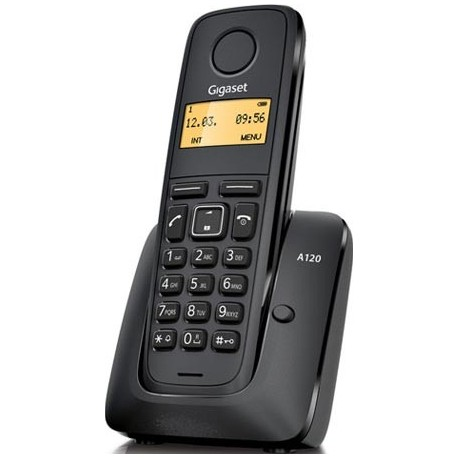 Gigaset - A120 DECT Identificador de llamadas Negro