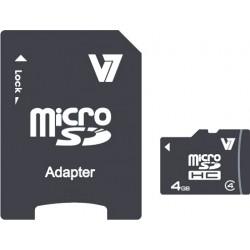 V7 - Micro tarjeta de 4 GB SDHC Clase 4 + adaptador