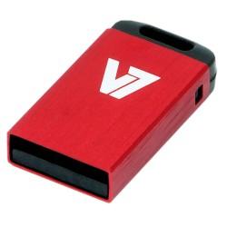 V7 - Unidad de memoria flash USB 2.0 nano 8 GB, roja