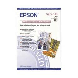 Epson - Papel acuarela blanco, DIN A3+, 190 g/m², 20 hojas papel para impresora de inyección de tinta