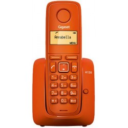 Gigaset - A120 Teléfono DECT Naranja Identificador de llamadas