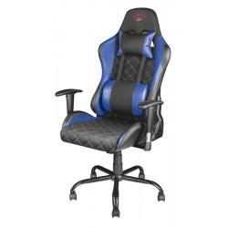 Trust - GXT 707B Silla para videojuegos de PC Asiento acolchado Negro, Azul