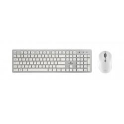 Bluestork - PACK-EASY-II-N/SP teclado Español Plata, Blanco